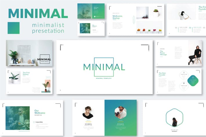 Thumbnail for Minimal Minimalist Google Slide Template