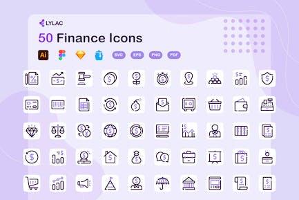 Lylac - Finanz-Icons