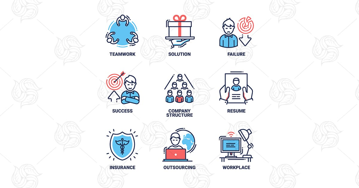 Download Business and finance line design icons set by Unknow