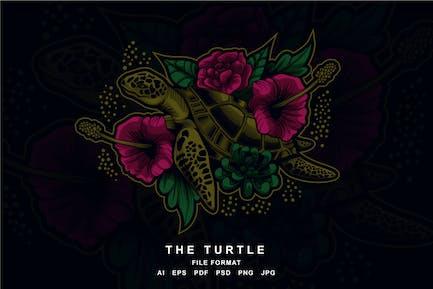 Schildkröte Artwork Illustration