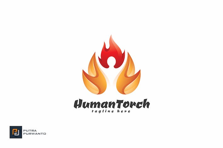 Thumbnail for Human Torch - Logo Template