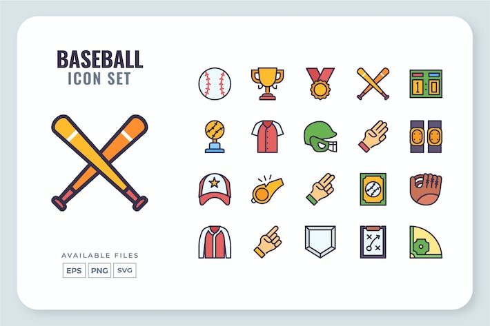 Thumbnail for Baseball-Icon-Set