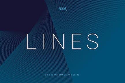 Linien   Abstrakte Streifen Hintergründe   Vol. 03