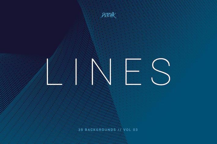 Linien | Abstrakte Streifen Hintergründe | Vol. 03