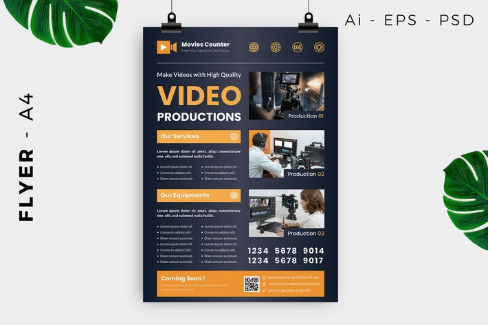 Cover Image For Video Production Flyer Design