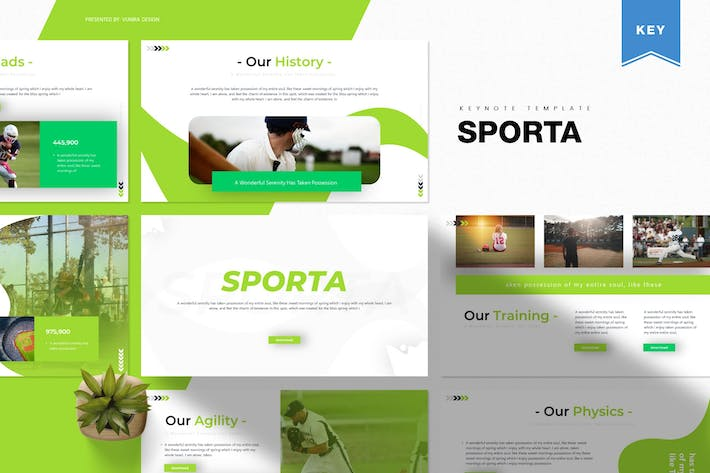 Thumbnail for Sporta | Keynote Template