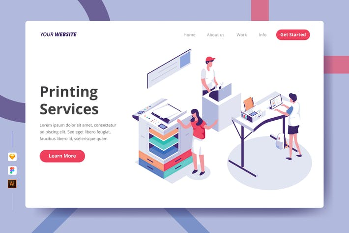 Thumbnail for Printing Services - Landing Page
