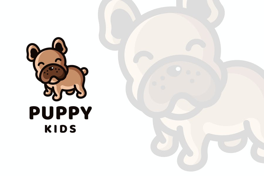 Puppy Kids Logo Template