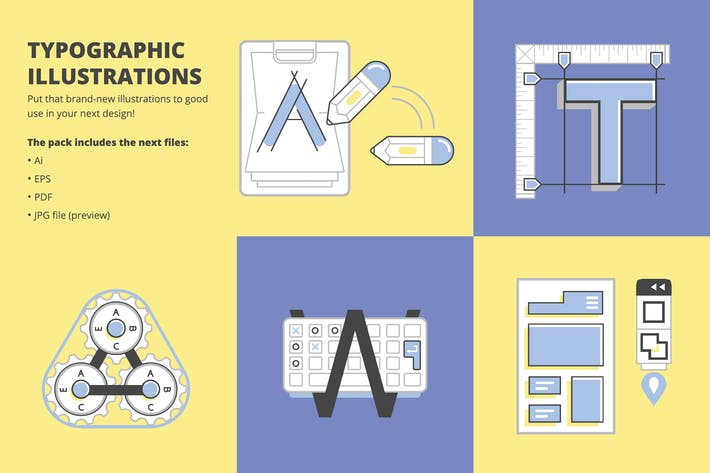 Typographische Illustrationen