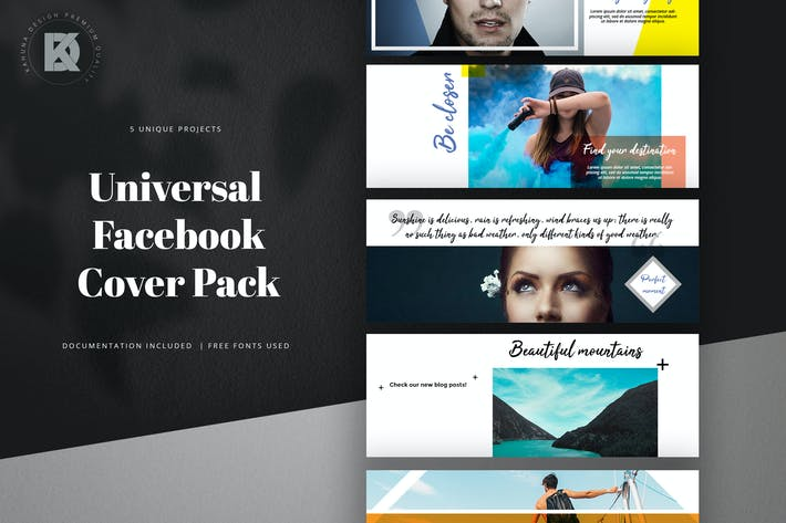 Thumbnail for Facebook Cover Universal Pack