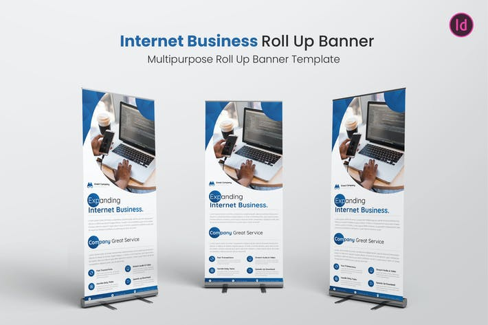 Thumbnail for Internet Business Roll Up Banner