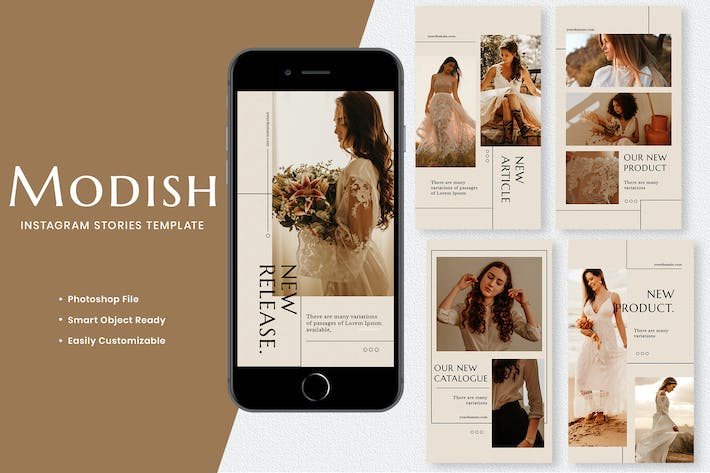 Thumbnail for Modish Fashion Instagram Stories Template