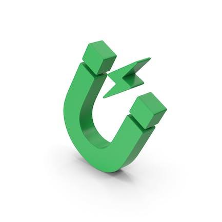 Symbol Magnet Green