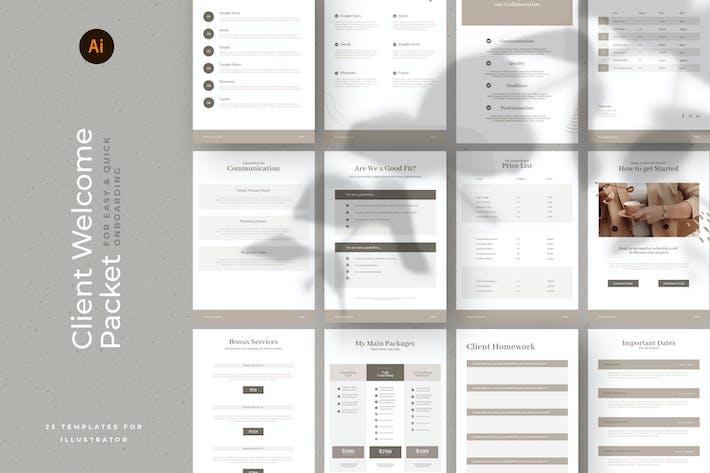Thumbnail for Paquet de bienvenue du client