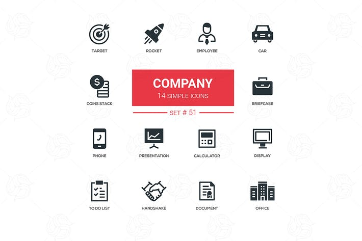 Thumbnail for Business concept, company - line design icons set