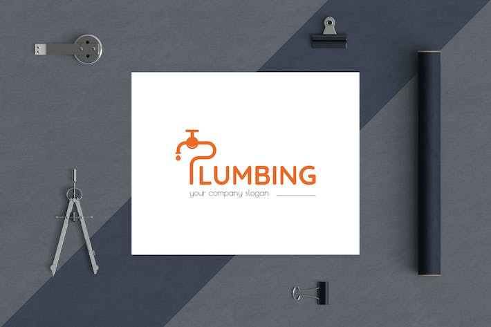 Cover Image For Plumbing Business Logo Template