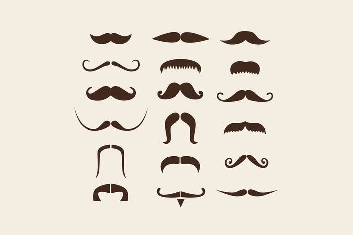Thumbnail for 18 Moustache Icons