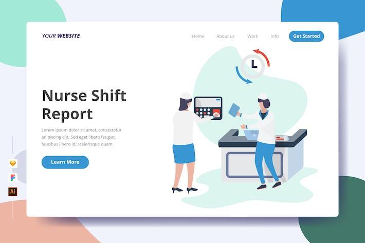 Nurse Shift Report - Landing Page
