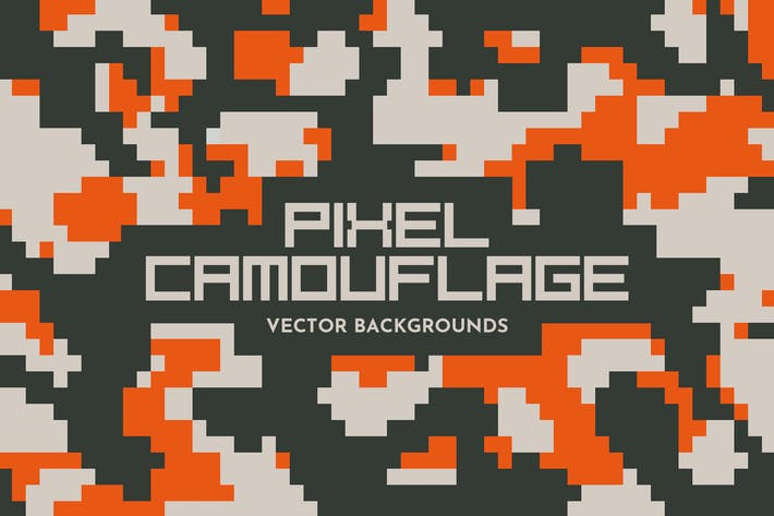 Thumbnail for Pixel Camouflage Vector Backgrounds