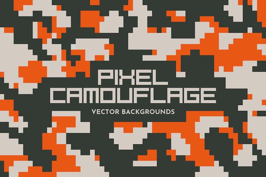 Pixel Camouflage-Vektor Hintergründe