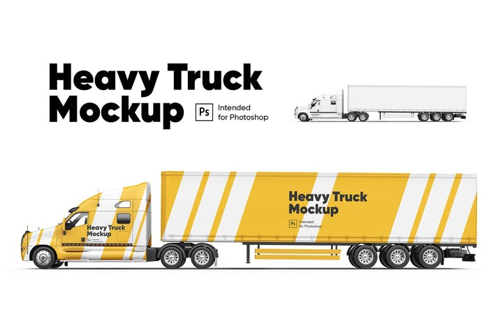 Thumbnail for Heavy Truck Mockup