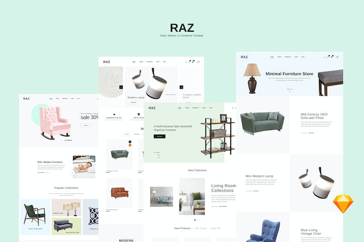 Cover Image For RAZ-Clean,Modern e-Commerce Templates