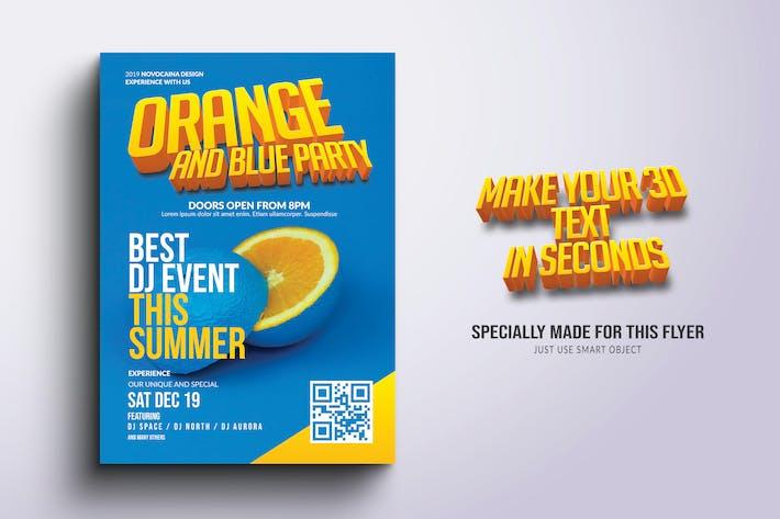 Thumbnail for Orange Party Flyer & Poster Design