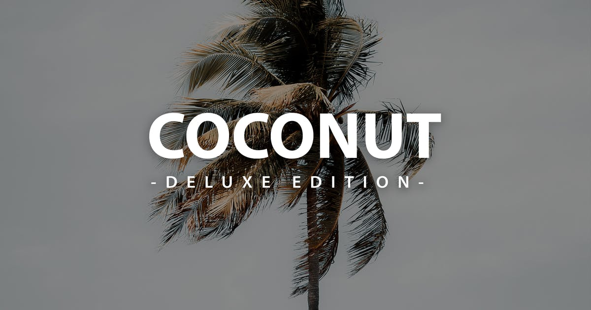 Download Coconut Deluxe Edition | For Mobile and Desktop by LightPreset