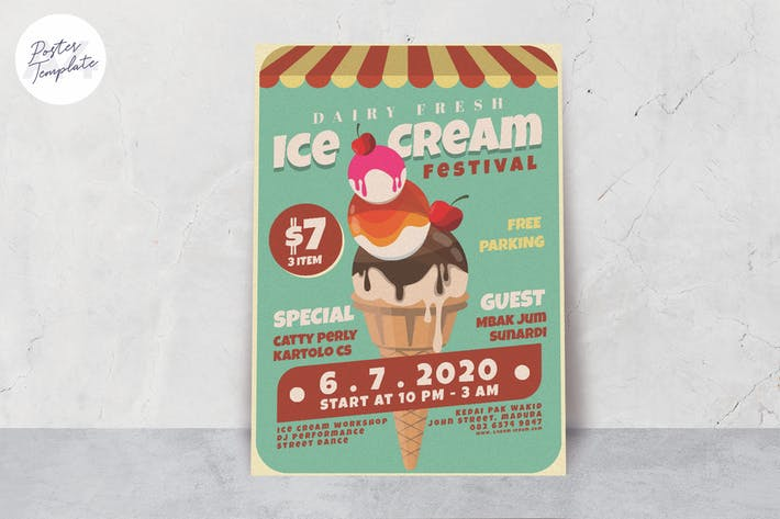 Thumbnail for Ice Cream Poster Template
