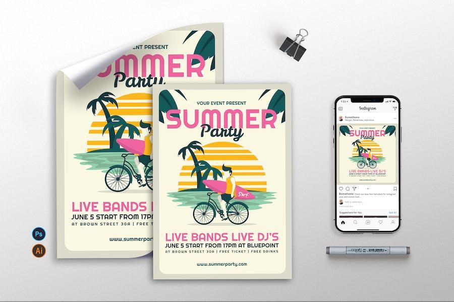 Summer Party - Flyer, Poster & Instagram GR