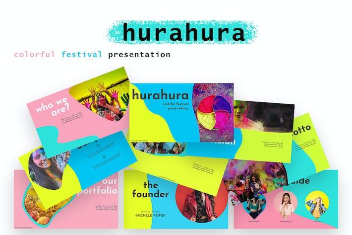 Thumbnail for hurahura - colorful Google Slide Presentation