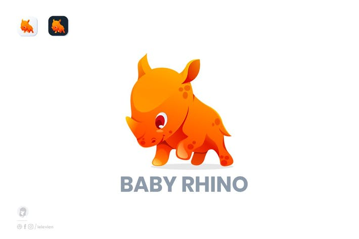Thumbnail for rhino baby logo template