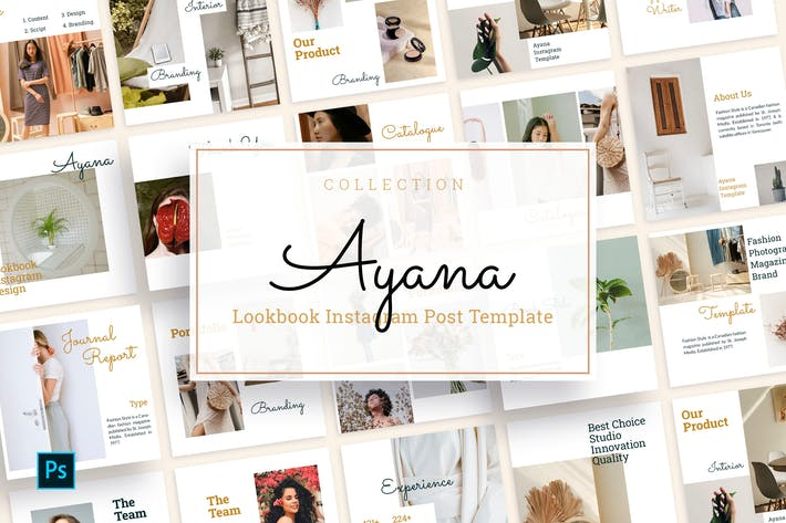 Thumbnail for Ayana - Modèle de flux Instagram Lookbook