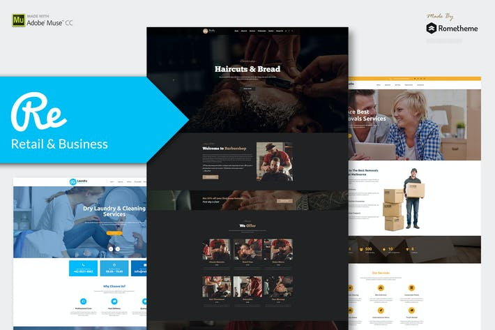 Thumbnail for RE - Multi-purpose Responsive Muse Templates