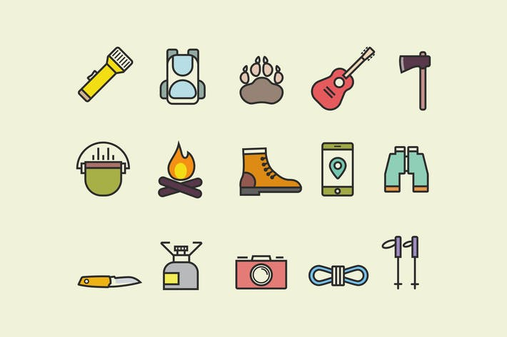 Cover Image For 15 Hiking and Walking Icons