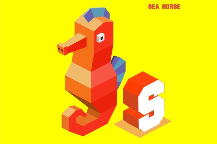 Cover Image For S for sea horse, Animal Alphabet