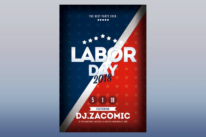 Thumbnail for Labor Day Flyer Poster