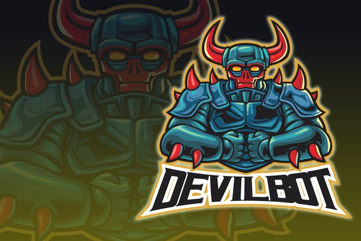 Thumbnail for Logo Cyborg Devil Esport