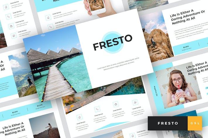 Thumbnail for Fresto - Travel Google Slides Template