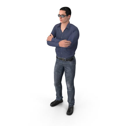 Casual Man James Wearing Sunglasses