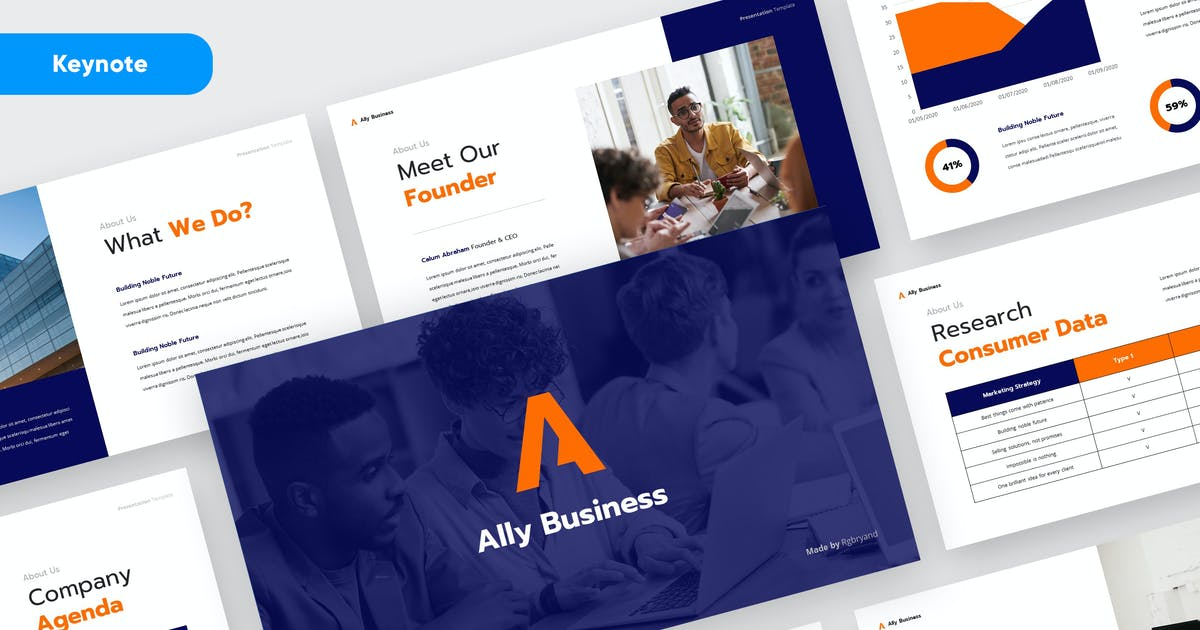 Download ALLY - Business Plan Keynote by rgbryand