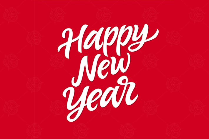 Thumbnail for Happy New Year - vector hand drawn lettering