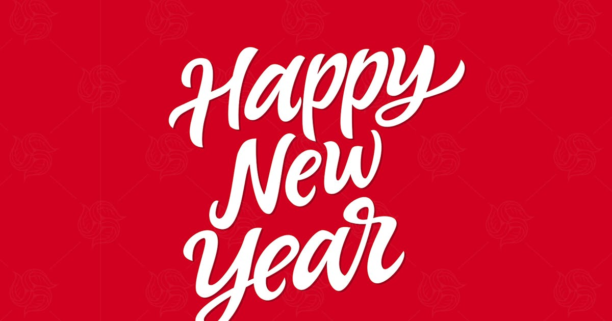 Happy New Year - vector hand drawn lettering by BoykoPictures