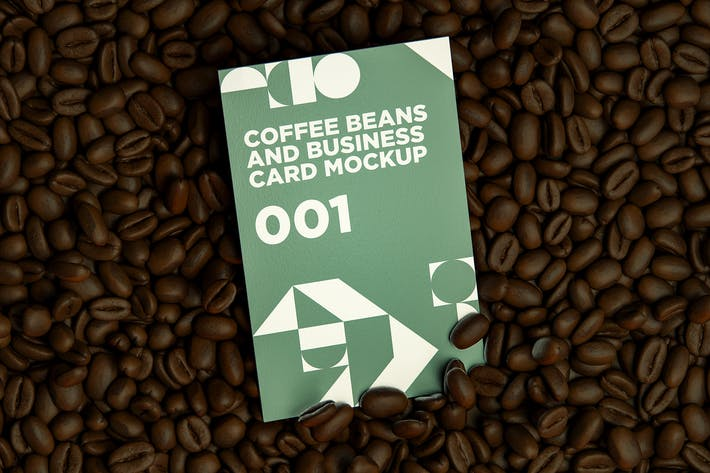 Thumbnail for Coffee Beans And Business Card MockUp 001