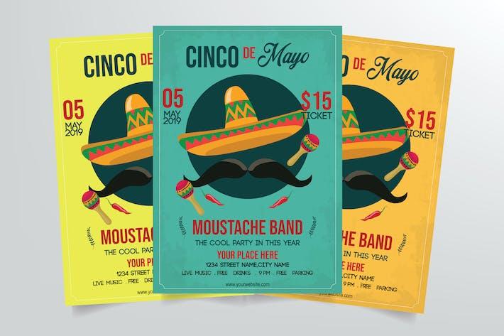 Thumbnail for Cinco de Mayo Flyer Template