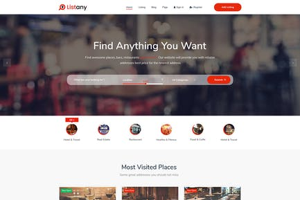 Listany - Directory and Listings HTML Template