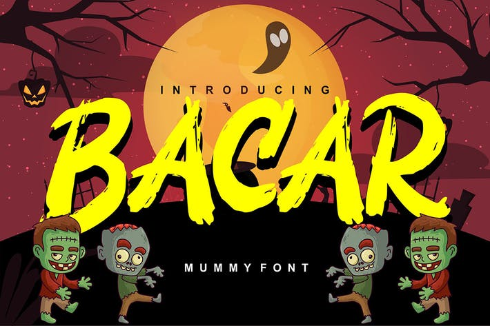 Thumbnail for Bacar | Hallowen Theme Font