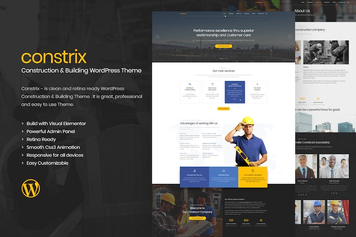 Thumbnail for Constrix - Construction & Construction Thème WordPress
