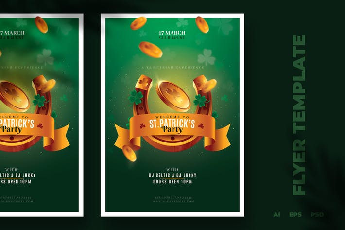 Thumbnail for St. Patrick Flyer Template