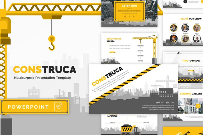 Thumbnail for Construca - Construction PowerPoint Template